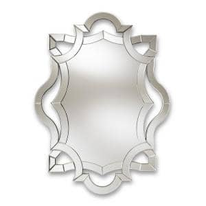 Large Rectangle Antique Silver Contemporary Mirror (48 in. H x 36 in. W)