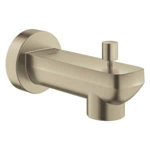 Lineare Wall Mount Tub Spout Trim Kit with Diverter in Brushed Nickel (Valve and Handles Not Included)