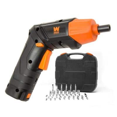 4-Volt Max Lithium Ion Rechargeable Cordless Electric Screwdriver and Flashlight with Carrying Case and 40+ Accessories