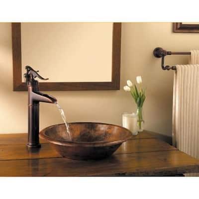 Ashfield Single Hole Single-Handle Vessel Bathroom Faucet in Rustic Bronze