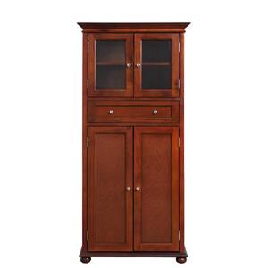 Hampton Harbor 25 in. W 4-Door Tall Cabinet in Sequoia