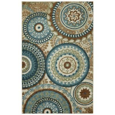 Forest Suzani Multi 6 ft. x 9 ft. Indoor Area Rug
