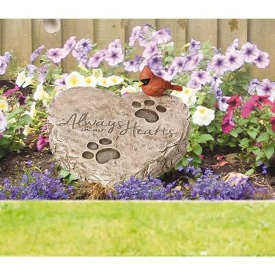 Pet Memorial 8 in. x 7 in. Resin Garden Stone