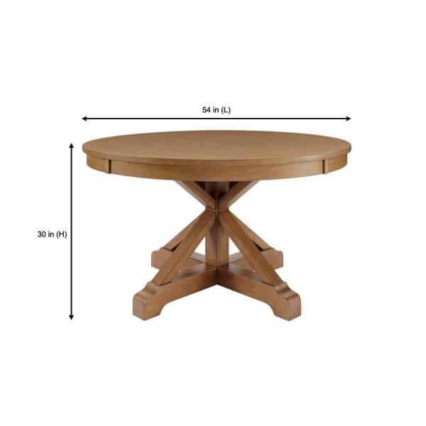 Home Decorators Collection Aberwood, 54 Round Pedestal Table