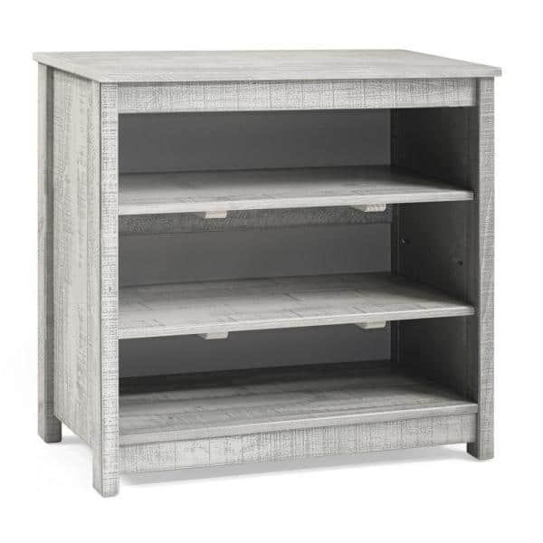 Alaterre Furniture Rustic Under Window Bookcase, Rustic Gray | The Home Depot