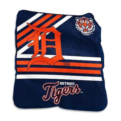 Detroit Tigers Multi Colored Raschel Throw