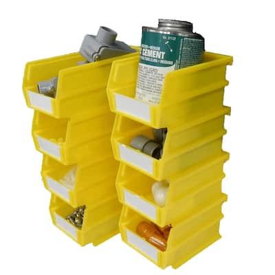 4-1/8 in. W x 3 in. H Yellow Wall Storage Bin Organizer (8-Piece)
