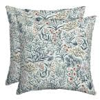 16 x 16 Pistachio Botanical Outdoor Throw Pillow, 2 pack
