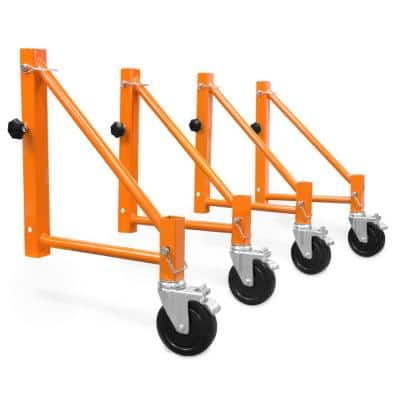 Baker Scaffold Outriggers with 5 in. Locking Casters (4-Pack)