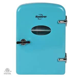0.14 cu. ft. Retro Portable Mini Fridge Cooler in Green without Freezer