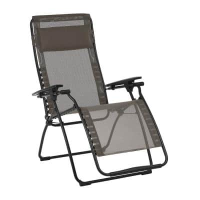 Futura in Graphite Color with Steel Frame Reclining Zero Gravity Lawn Chair