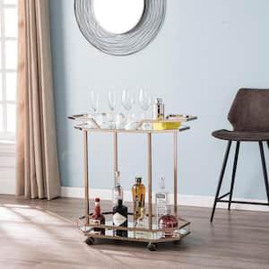 Berndt Champagne Finish Bar Cart
