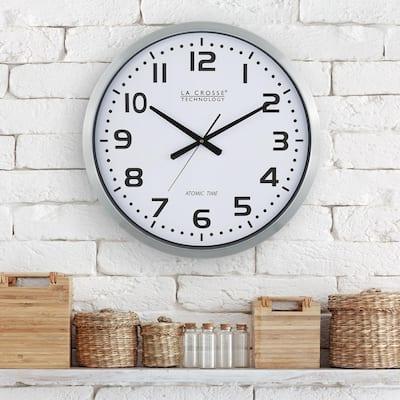 20 In. Extra Large Atomic Analog Metal Wall Clock