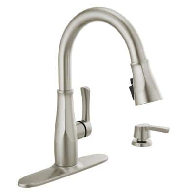 Owendale Single-Handle Pull-Down Sprayer Kitchen Faucet with ShieldSpray Technology in SpotShield Stainless