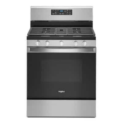 5.0 cu. ft. Gas Range with Self Cleaning and Center Oval Burner in Fingerprint Resistant Stainless Steel