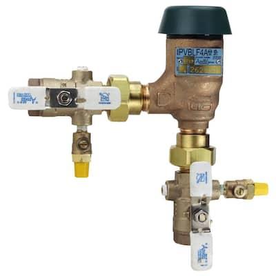 3/4 in. Bronze Lead Free FIP Pressure Vacuum Breaker with Union Shut-Off Valves