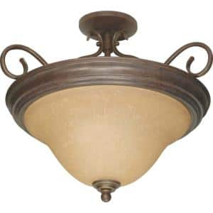 Adria Concord 3-Light Bronze Semi-Flush Mount Light