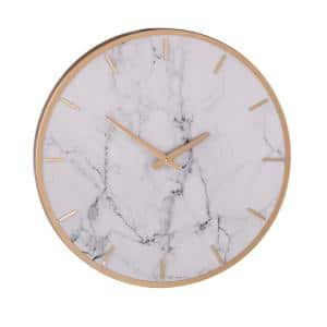 Martha White and Gold Decorative Wall Clock