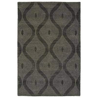 5 X 8 Shag Black Area Rugs Rugs The Home Depot