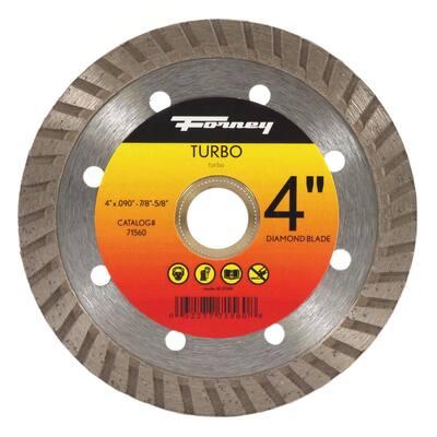 4 in. Turbo Continuous Rim Diamond Cut-Off Blade