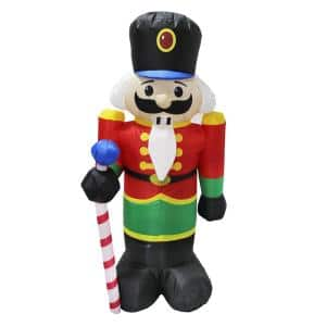 4 ft. Inflatable Holiday Nutcracker with White LED Lights