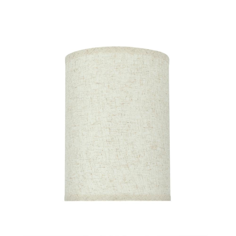 Aspen Creative Corporation 8 In X 11 In Flaxen Hardback Drum Cylinder Lamp Shade 31030 The Home Depot