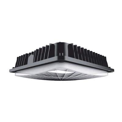 175-Watt Equivalent Integrated LED Bronze Water Resistant IP65 Canopy Light
