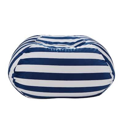Navy Bean Bag Covers Microfiber 32 in. x 32 in.