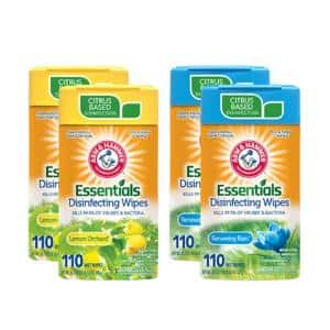 110-Count Lemon Orchard and Renewing Rain Disinfecting Wipes (4-Pack)