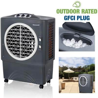 1700 CFM 3-Speed Outdoor Rated Portable Evaporative Cooler(Swamp Cooler) for 610 sq. ft. with GFCI Cord