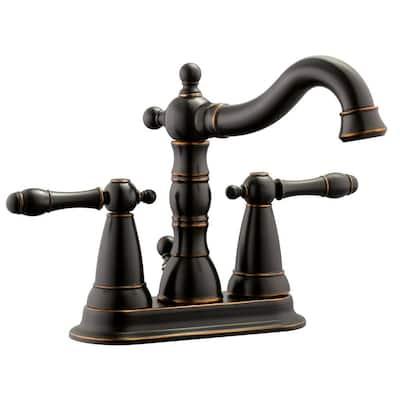 Oakmont 4 in. Centerset 2-Handle Bathroom Faucet in Oil Rubbed Bronze