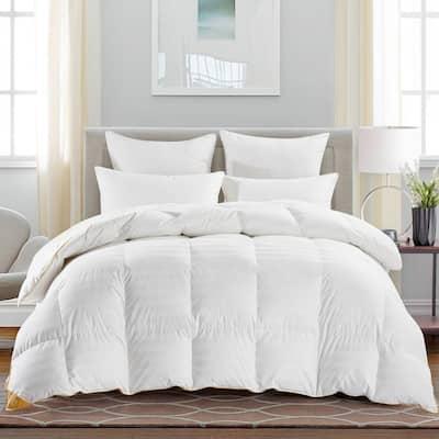 Year Round Warmth White King 75% Goose Down Comforter