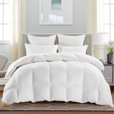 Year Round Warmth White Twin 75% Goose Down Comforter