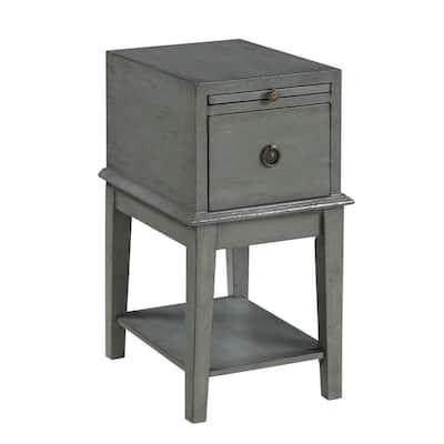 Joplin Texture Grey 1- Drawer Chairside Chest