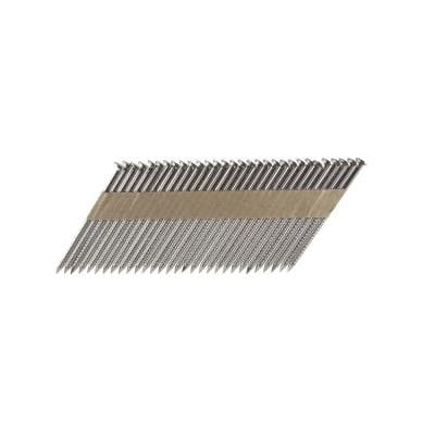 3 in. x 0.131 Paper Tape Collated Stainless Steel Ring Shank Framing Nails (500 per Box)