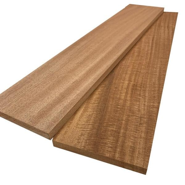 Swaner Hardwood 1 in. x 8 in. x 8 ft. African Mahogany S4S Board (2-Pack)   The Home Depot