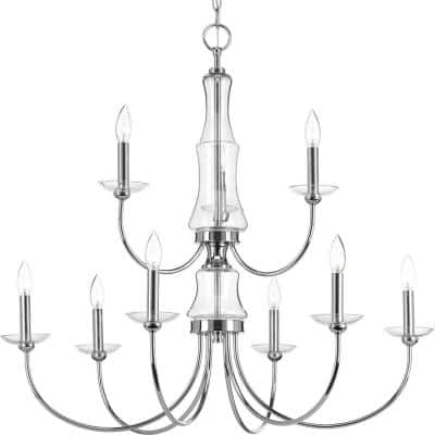 Litchfield Collection 9-Light Polished Chrome Chandelier
