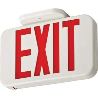 Contractor Select EXRG 3.6-Volt Backup Battery Integrated LED White Exit Sign