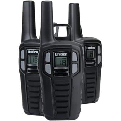 16-Mile 2-Way FRS/GMRS Radios with Batteries (3-Pack)