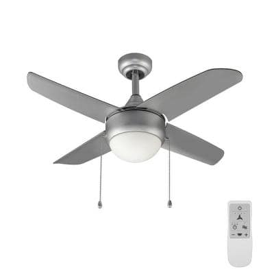 Spindleton 36 in. Grey Ceiling Fan with Light Kit works with Google Assistant and Alexa