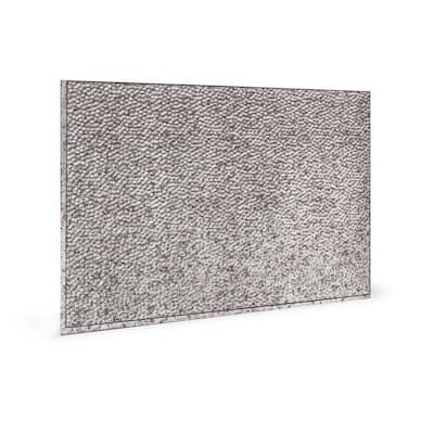 18.5'' x 24.3'' Lamina Decorative 3D PVC Backsplash Panels in Crosshatch Silver 6-Pieces