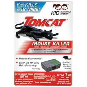 Mouse Killer Disposable Station for Indoor Use - Child Resistant, 1 Preloaded Station