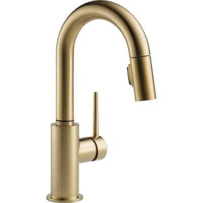 Trinsic Single-Handle Pull-Down Sprayer Bar Faucet with MagnaTite Docking in Champagne Bronze