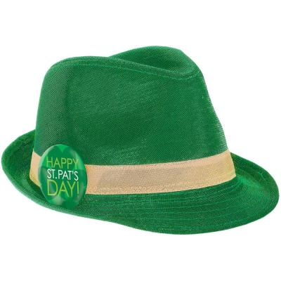 Green St. Patrick's Day Fedora (2-Pack)