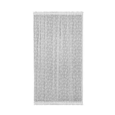 White Coastal Rod Pocket Room Darkening Door Curtain - 45 in. W x 63 in. L