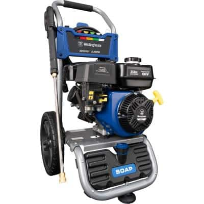 WPX 3200 PSI 2.5 GPM Gas Powered Axial Cam Pump Pressure Washer with Quick Connect Tips