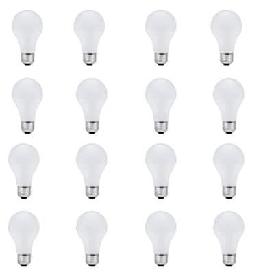 100-Watt Equivalent A19 Dimmable Soft White Halogen Light Bulb (16-Pack)