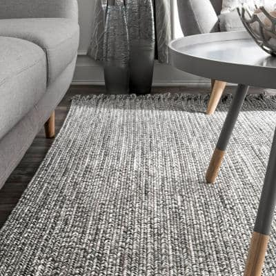 Courtney Braided Black and White 12 ft. x 15 ft. Indoor/Outdoor Area Rug
