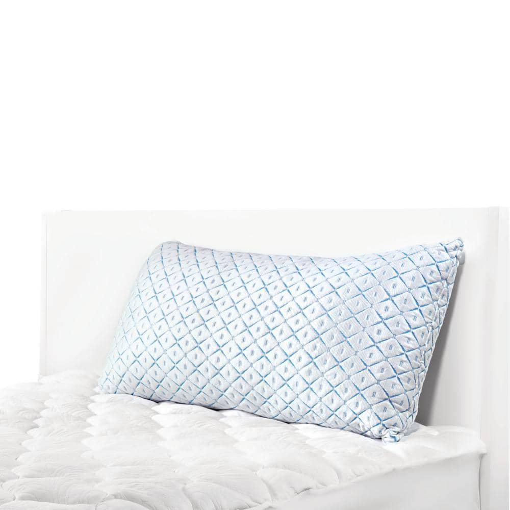 Sealy Evercool Cooling Hypoallergenic Down Alternative Queen Pillow 54572atc The Home Depot