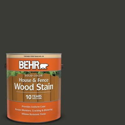 1 Gal. #ECC-10-2 Jet Black Solid Color House and Fence Exterior Wood Stain